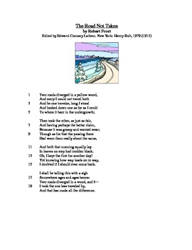 The Road Not Taken - Literary Text Test Prep