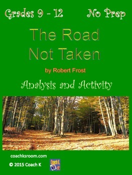 The Road Not Taken by Robert Frost Mini Unit for The Outsiders
