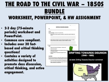 The Road to the Civil War Bundle - 1850s America - US Hist