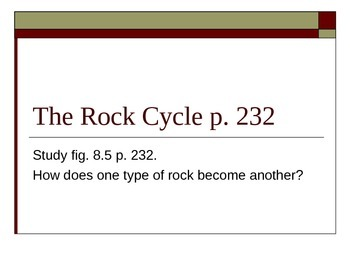 The Rock Cycle Lesson 16