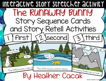 The Runaway Bunny Story Sequence and Retelling Cards (Math