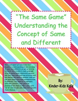 """The Same Game""  Understanding the Concept of Same and Different"