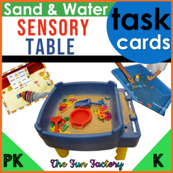 """Sand and Water """"Sensory"""" Table Task Cards and More, CC Style"""