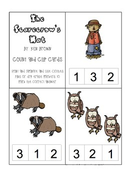 The Scarecrow's Hat Count & Clip Cards