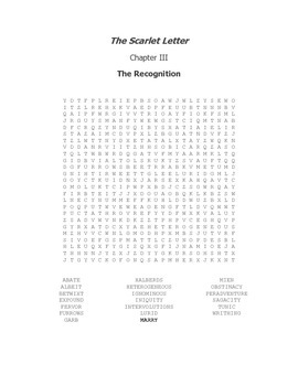 The Scarlet Letter Ch. III Vocabulary Word Search