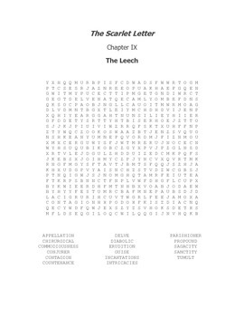 The Scarlet Letter Ch. IX Vocabulary Word Search