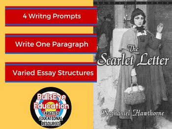 The Scarlet Letter: Four Writing Prompts to Produce Single
