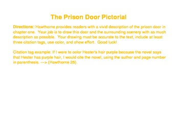 The Scarlet Letter - Prison Door Pictorial - Post-reading