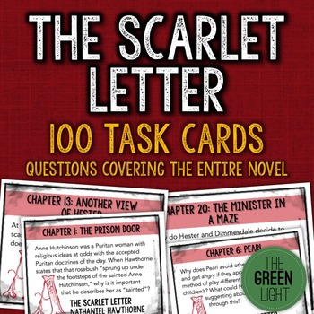 The Scarlet Letter Task Cards: Quizzes, Discussion Questio
