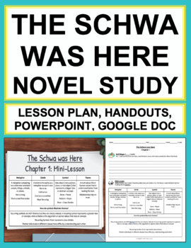 The Schwa Was Here Novel Study: 22 NO PREP Lesson Plans &