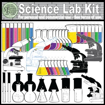 The Science Lab Kit Clip Art {Messare Clips and Design}
