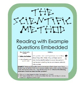 The Scientific Method Steps Introduction  w/ examples & qu