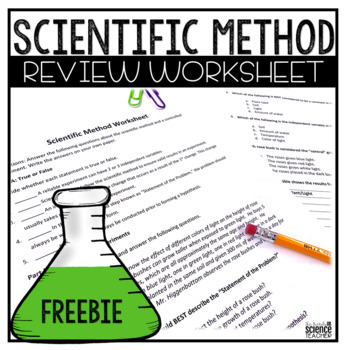 The Scientific Method Worksheet with ANSWER KEY!