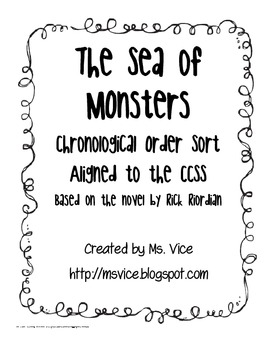 The Sea of Monsters Chronological Order Sort