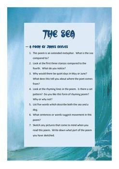 The Sea poetry activity