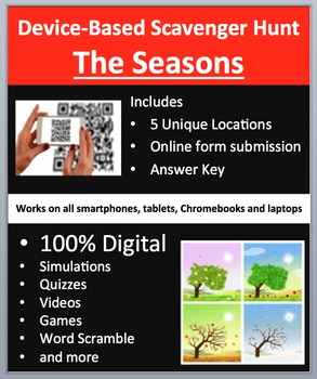 The Seasons - Device-Based Scavenger Hunt Activity - Let t