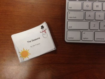The Seasons Mini Book using PowerPoint