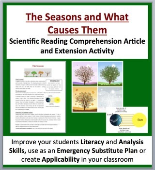 The Seasons and What Causes Them - Science Reading Article