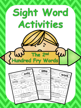 The Second Hundred Fry Words Sight Word Worksheets