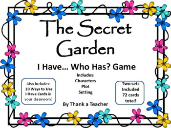 The Secret Garden  I Have Who Has? Game Two Sets