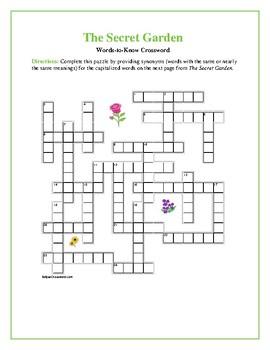 The Secret Garden: 25-word Vocab Crossword--Companion Prod
