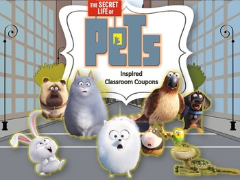 behavior award coupons inspired by The Secret Life of Pets
