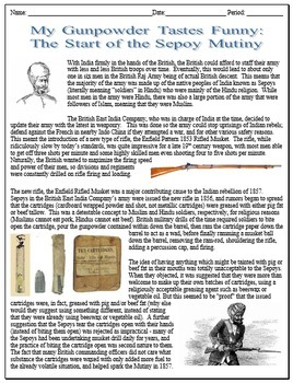The Sepoy Mutiny and British Imperialism in India