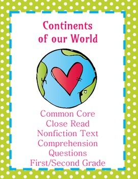 The Seven Continents: Nonfiction Passage and Comprehension