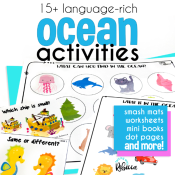 The Shark Was Swimming Ocean Themed Vocabulary Activities
