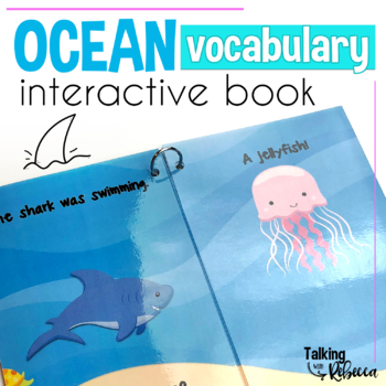 The Shark Was Swimming Interactive Ocean Vocabulary book