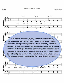 The Shofar is Blowing - Easy piano children's song for Ros