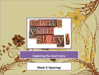 The Short Story - Openings