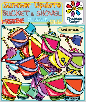 The Shovel in the Bucket FREEBIE Clips [Happy Summer Clips