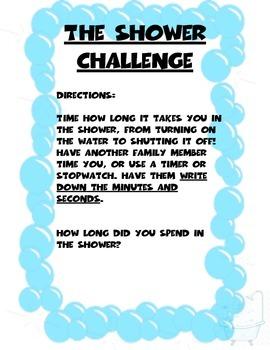 The Shower Challenge