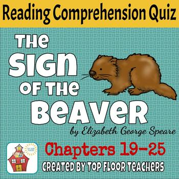 The Sign of the Beaver Quiz Chapters 19-25