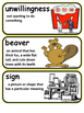 The Sign of the Beaver Vocabulary Words with Definition