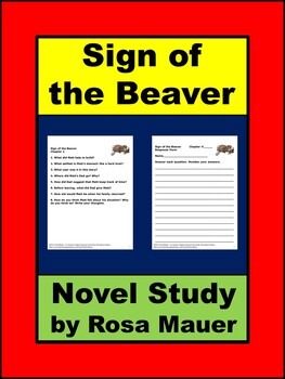 The Sign of the Beaver by Elizabeth George Speare Book Unit