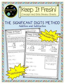 Significant Figures Worksheets - Addition and Subtraction