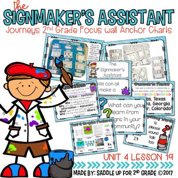 The Signmaker's Assistant Focus Wall Anchor Chart and Word