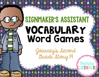 The Signmaker's Assistant Vocabulary Word Games