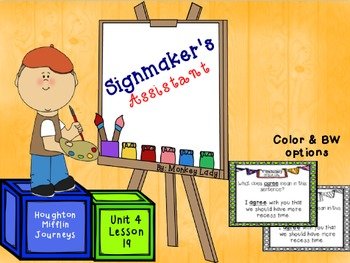 The Signmaker's Assistant Review Task Cards for Houghton M