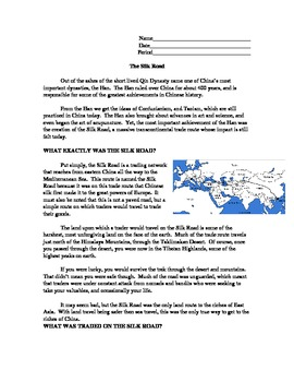 The Silk Road Reading and Questions