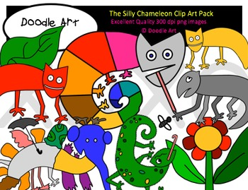 The Silly Chameleon Clipart Pack