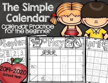 A Simple Calendar {Calendar Practice for Beginners!}