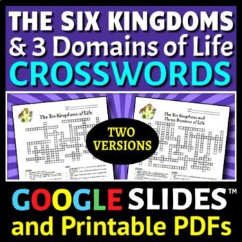 The Six Kingdoms and Three Domains of Life - Crossword - T