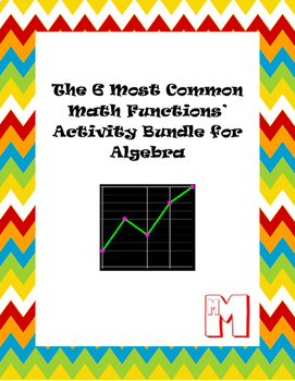 The Six Most Common Math Functions' Activities Bundle for Algebra