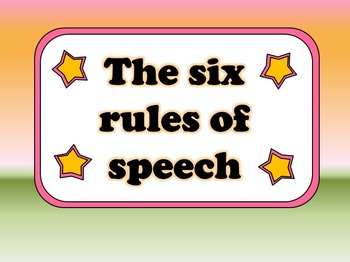 The Six Rules of Speech: using the correct punctuation (a