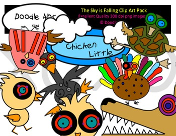 The Sky is Falling Clipart Pack