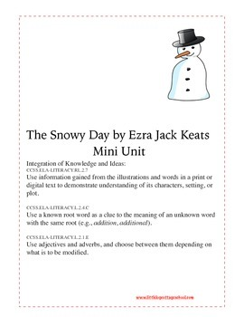 The Snowy Day Literature Printables