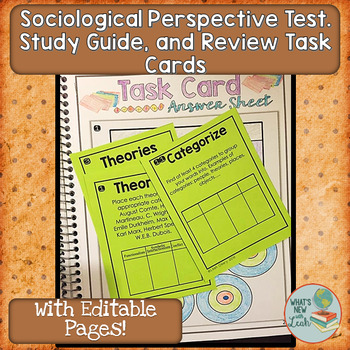 The Sociological Perspective Editable Test, Study Guide, A